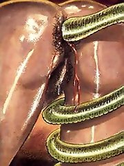 153 large green snake gets into the pussy in sex comics^Toons Porn Cartoon porn sex xxx cartoons toon toons drawn drawings free